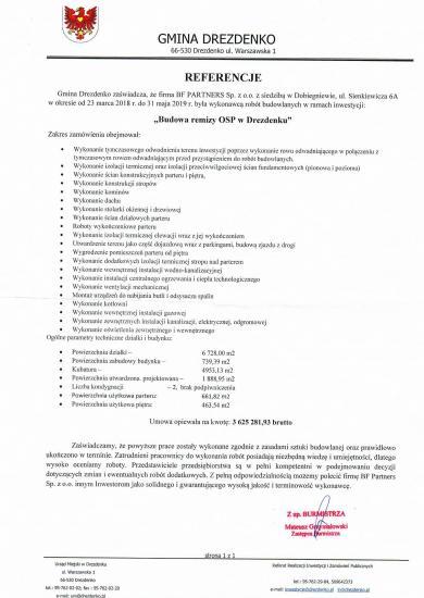 Referencje od Burmistrza Drezdenka