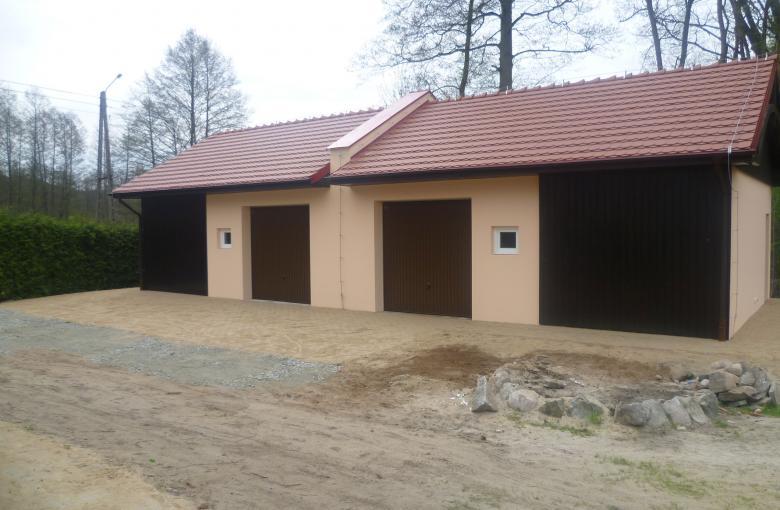 Budowa budynku gospodarczego - Grabin