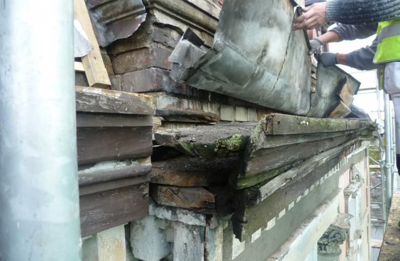 Drezdenko - remont kamienicy