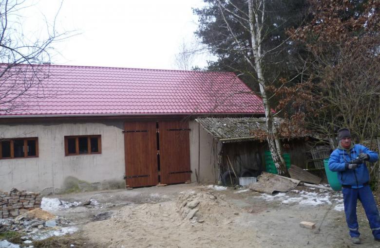 Remont budynku gospodarczego w Wołogoszczy