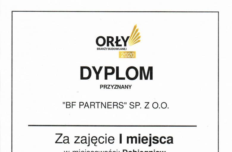 Dyplom Orły Branży Budowlanej 2020 r.